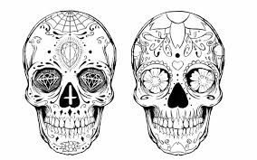 Sugar Skull Pumpkin Carving Patterns by Fun Colorful Skull Set Sugar Skulls Sugaring And Polymer Clay