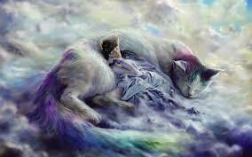 cat nap of big cat fantasy wallpaper hd for desktop in 4k