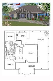 coastal house plan 59391 total living area 1385 sq ft 2
