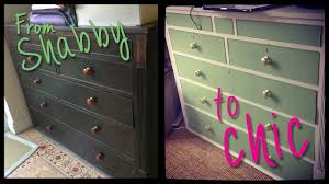 diy shabby to chic furniture transformation youtube
