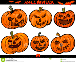 halloween cartoon themes set royalty free stock photos image