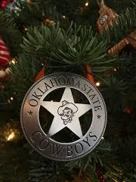 oklahoma state cowboy badge osu ornament ostate badge