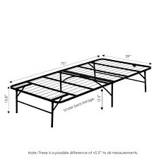 amazon com furinno fb001t angeland mattress foundation platform