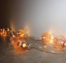 copper mesh lights by the forest co notonthehighstreet