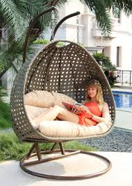 Swing Chair Patio 2 Person Wicker Egg Basket Swing Chair Patio Outdoor Furniture