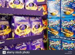 easter eggs sale easter eggs chocolate cadbury dairy milk smarties sale display
