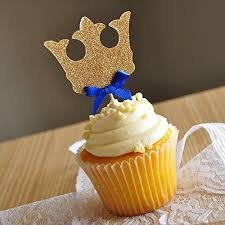 prince baby shower decorations crown cupcake toppers royal prince baby shower