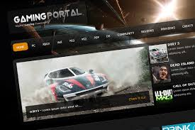 layout web portal learn to create a gaming layout in photoshop