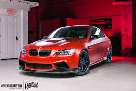 matte red bmw bmw m3 in satin candy red phenomenalvinyl