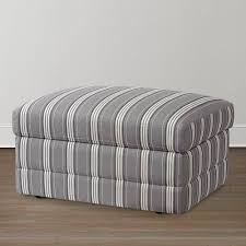 cu 2 plaid storage ottoman bassett home furnishings