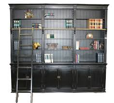 Bookcase Ladder Black Large Bookcase With Ladder Sd 108
