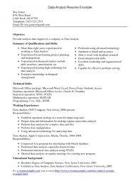 entry level data analyst resume data analyst resume sle data