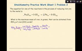 Stoichiometry Problems Worksheet Ap Chemistry Stoichiometry Worksheet 1 Problem 2 Youtube