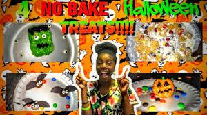 Easy No Bake Halloween Treats 4 Easy No Bake Halloween Treats Best Treats Ever Youtube