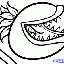 plants vs zombies chomper coloring sheet ghost study