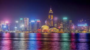 wallpaper hong kong skyline nightscape 4k world 6383