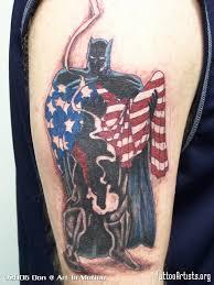 patriotic batman comic tattoos tattoo artists org