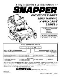 snapper zf2500k zf2500kh zf2200k zf5200m zf6100m lawn mower