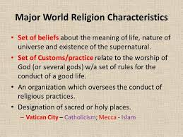 world belief systems regents review characteristics a set