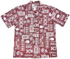 hawaiian glyphs aloha shirt