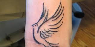 dove tattoo designs on wrist