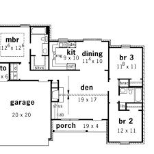 floor plans for bedrooms split bedrooms and open floor plan hwbdo14436 country from split