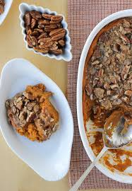 sweet potato casserole with pecan praline topping dairy free
