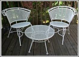 Mid Century Modern Patio Chairs Antique Mid Century Modern Outdoor Wrought Iron Mesh Patio Chairs