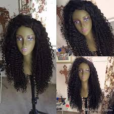 no part weave hairstyles free part long afro kinky curly human hair glueless full lace