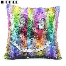 home decor drop shipping mermaid pillow case cushion cover reversible throw pillow