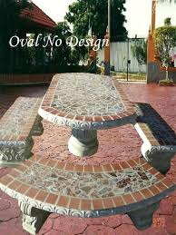 cement table and chairs tiled table garden furniture popular of ceramic patio table colorful