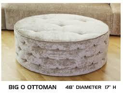 leather ottoman round leather ottoman round tufted storage teal big blue sofa seagrass