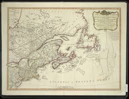 Eastern Canada Map by A New And Correct Map Of The British Colonies In North America