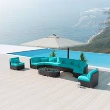 Blue Patio Furniture Sets Foter - Round outdoor sofa