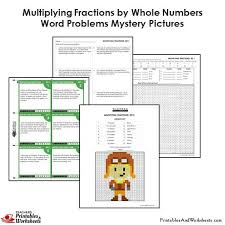 4th grade multiplying fractions word problems coloring worksheets