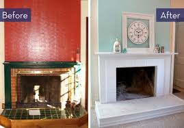 Paint Tile Fireplace by Before And After 5 Budget Friendly Fireplace Makeovers Curbly