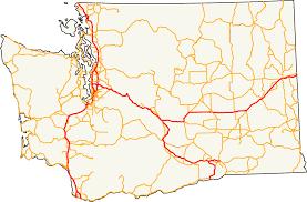 Washington Map by List Of Interstate Highways In Washington Wikipedia