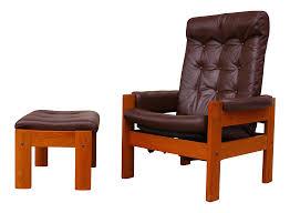 vintage ekornes amigo recliner u0026 ottoman chairish