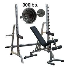 Weight Bench With Barbell Set Weight Bench And Barbell Set 300 Lb Olympic Weight Set With Bench