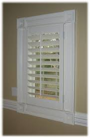 plantation shutters beautiful mill work around the windows