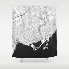 toronto map gray shower curtain by city art posters society6