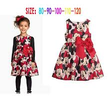 2017 children girls dresses minnie mouse dress baby clothes
