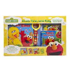 Elmo Bathroom Set Sesame Street Elmo U0027s Farm Friends Read Find And Play 3 Book Set
