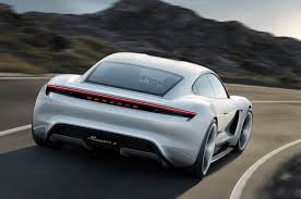 tesla supercar concept porsche mission e concept previews future tesla fighter