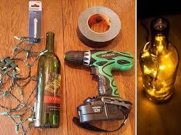 how to make a wine bottle l wine bottle l diy repurposed christmas lights do make wine