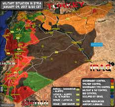 syria on map situation in syria on january 9 2017 map update