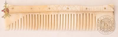 viking anglo saxon hairstyles viking anglo saxon birka comb made from bone make your own