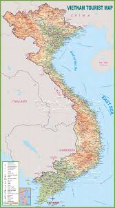 Mountain Ranges World Map by Large Detailed Tourist Map Of Vietnam With Cities And Towns