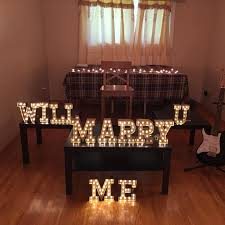 will you marry me signs in lights marquee letters rentals gta toronto vintagebash