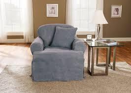 Armchair Slipcovers Sure Fit Soft Suede T Cushion Armchair Slipcover U0026 Reviews Wayfair